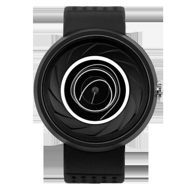 情人节礼物译时Enmex设计师款创意手表 棱镜创意几何线圈炫酷腕表