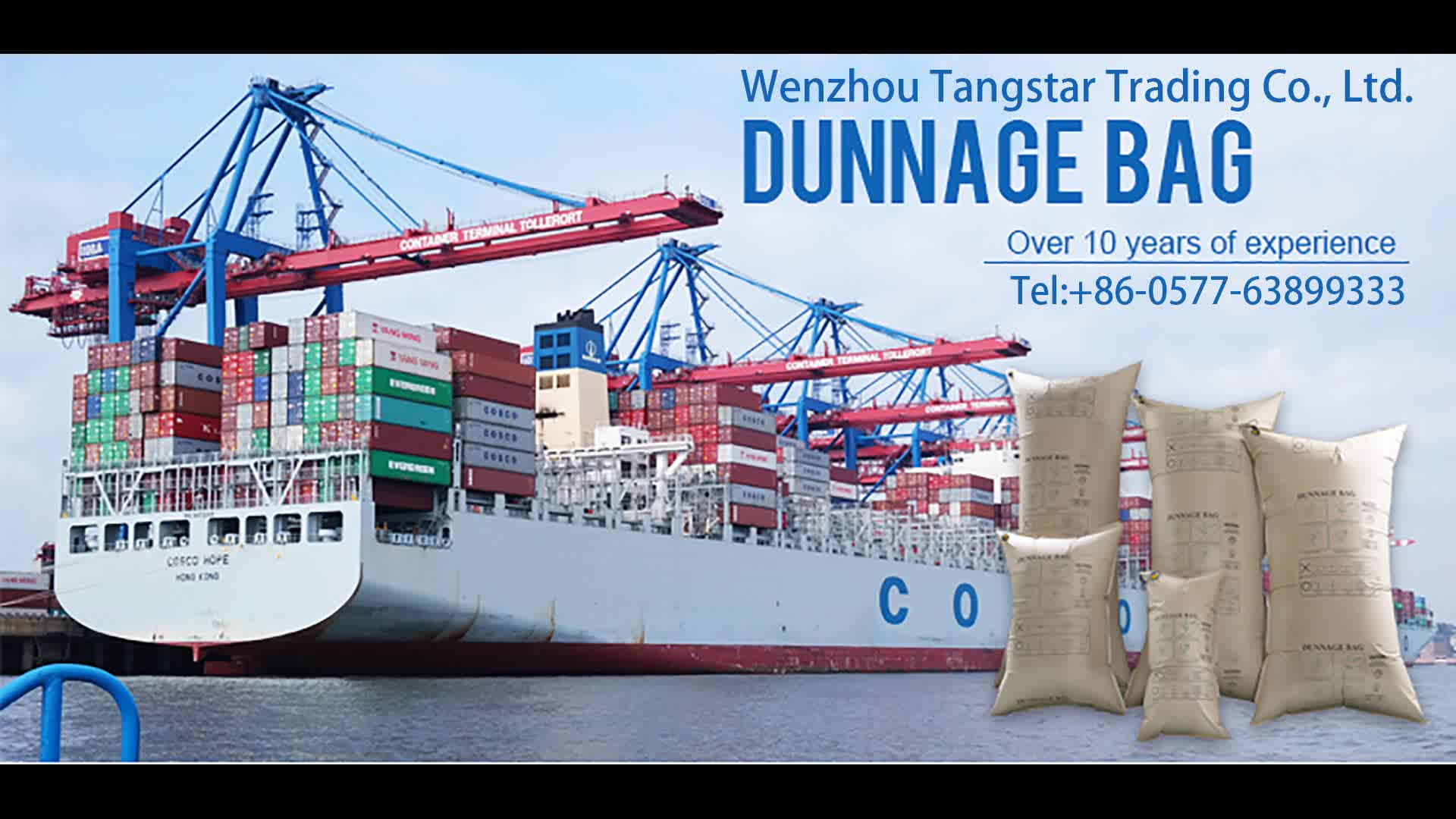 Avoid Transport Cargo Damages Container Air Bag in Logistic Packaging , Brown Kraft Paper Dunnage Air Bag , Airbag Packaging