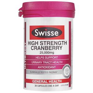 澳洲Swisse蔓越莓胶囊30粒高浓度精华保养卵巢女性保健品曼越梅