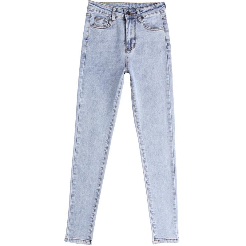 加绒浅色紧身小脚加长裤子牛仔裤怎么样