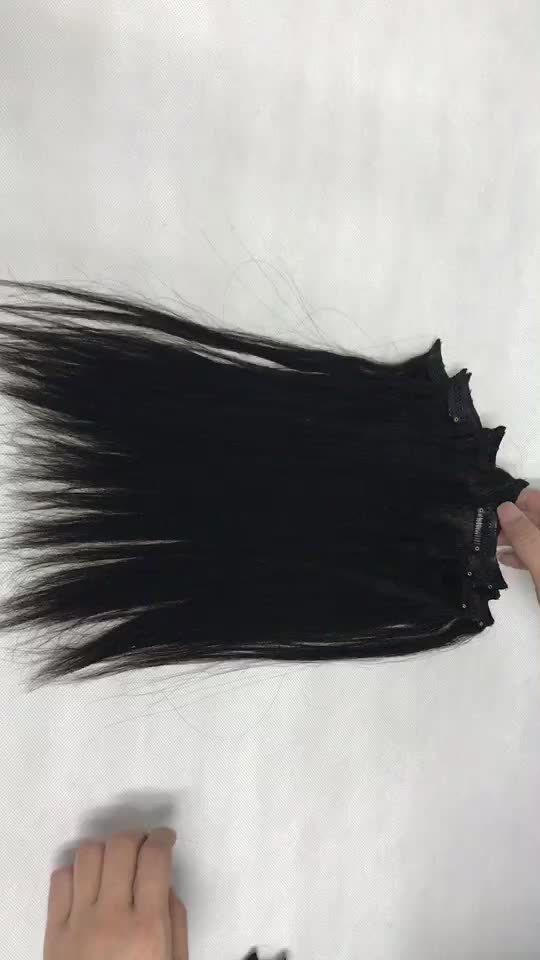 Textured Clips In Real Human Hair Extensions For Natural Black Women Cheap To Buy