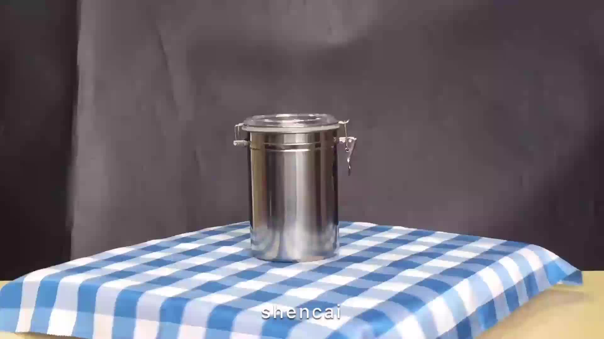 4pcs stainless steel kitchen Food Container Canister jar