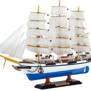 snnei地中海帆船木质小帆船模型