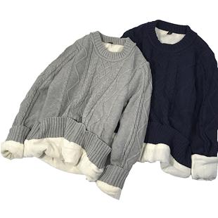 男秋冬季韩版潮流慵懒风针织衫毛衣
