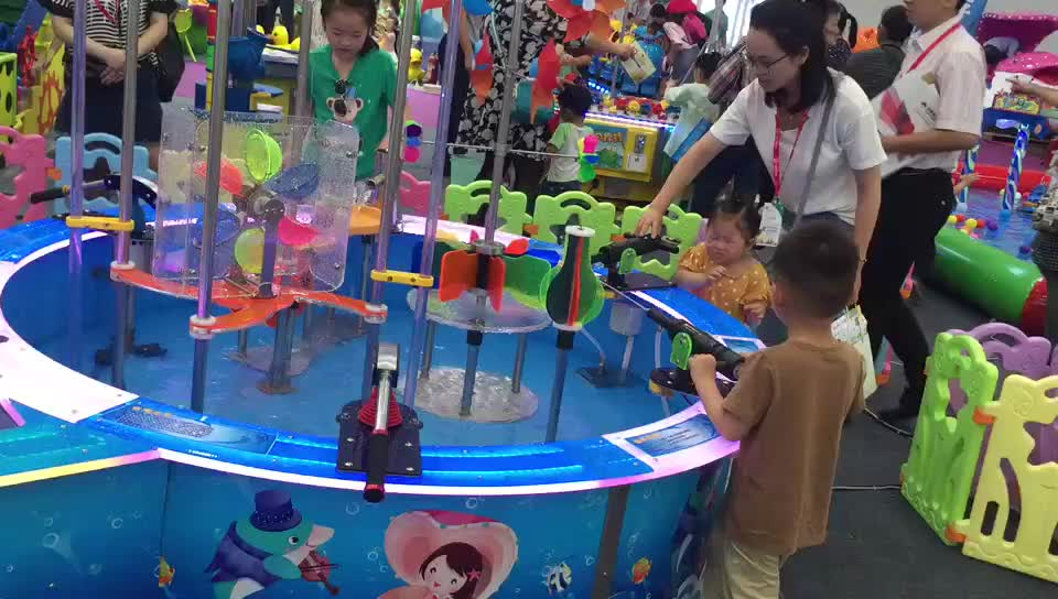 kids water play game mini water park for indoor playground game