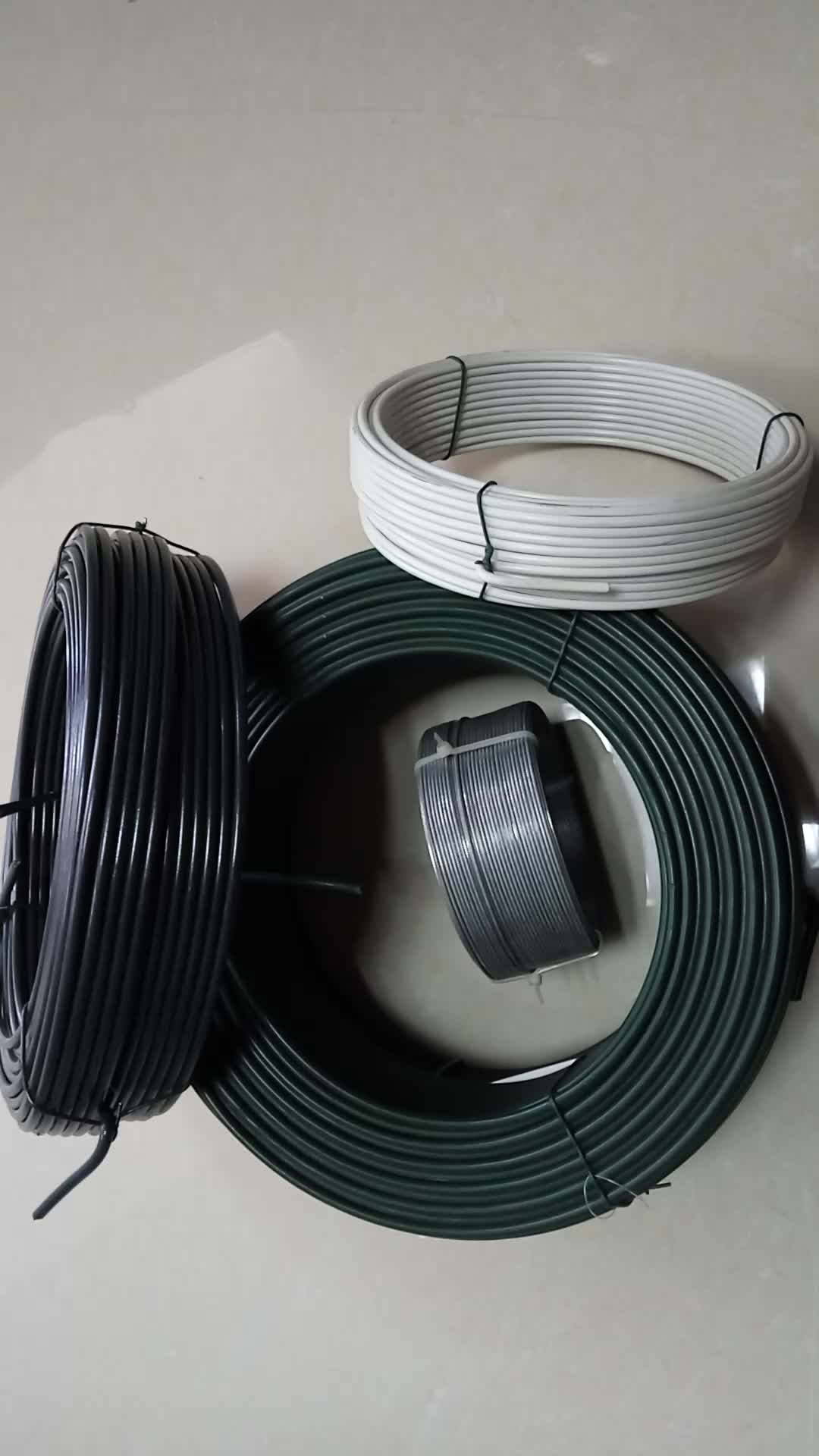 Small Coil Pvc Coated Iron Wire / Pvc Binding Wire / Fencing Wire ...