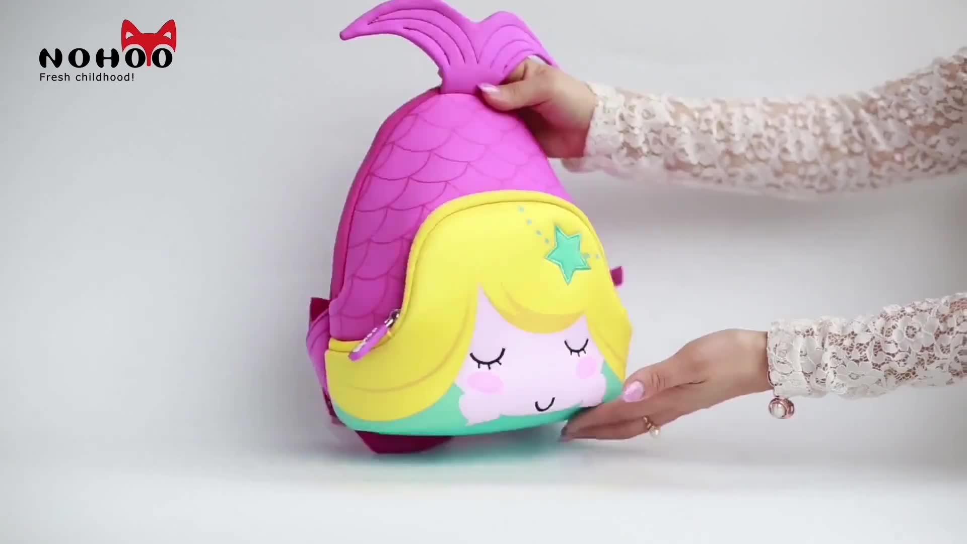 Großhandel schule kinder rucksack tasche für mädchen cartoon 3d tier rucksack
