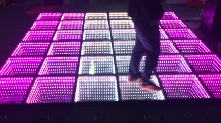 Wedding decorations light up video interactive starlit used 3D mirror dj led dance floor for sale