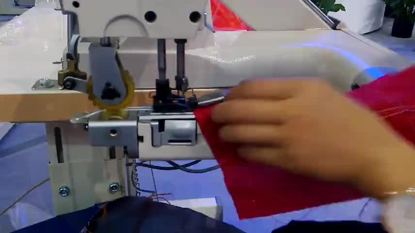 DT927-PL aguja doble alimentación de brazo feed-off-the-brazo cadena puntada con la máquina incorporada doble extractor