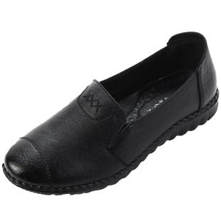 秋季妈妈鞋单鞋2019新款中老年皮鞋