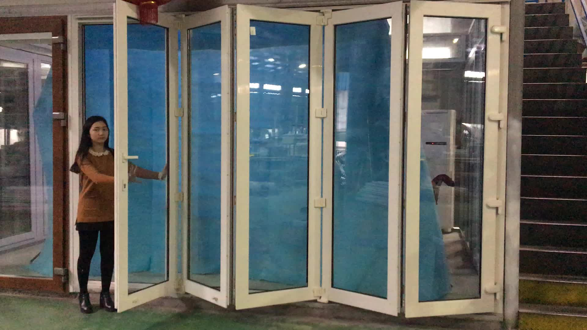 Project Pvc Exterior Glass Bifold Doors With Low E Glass Buy