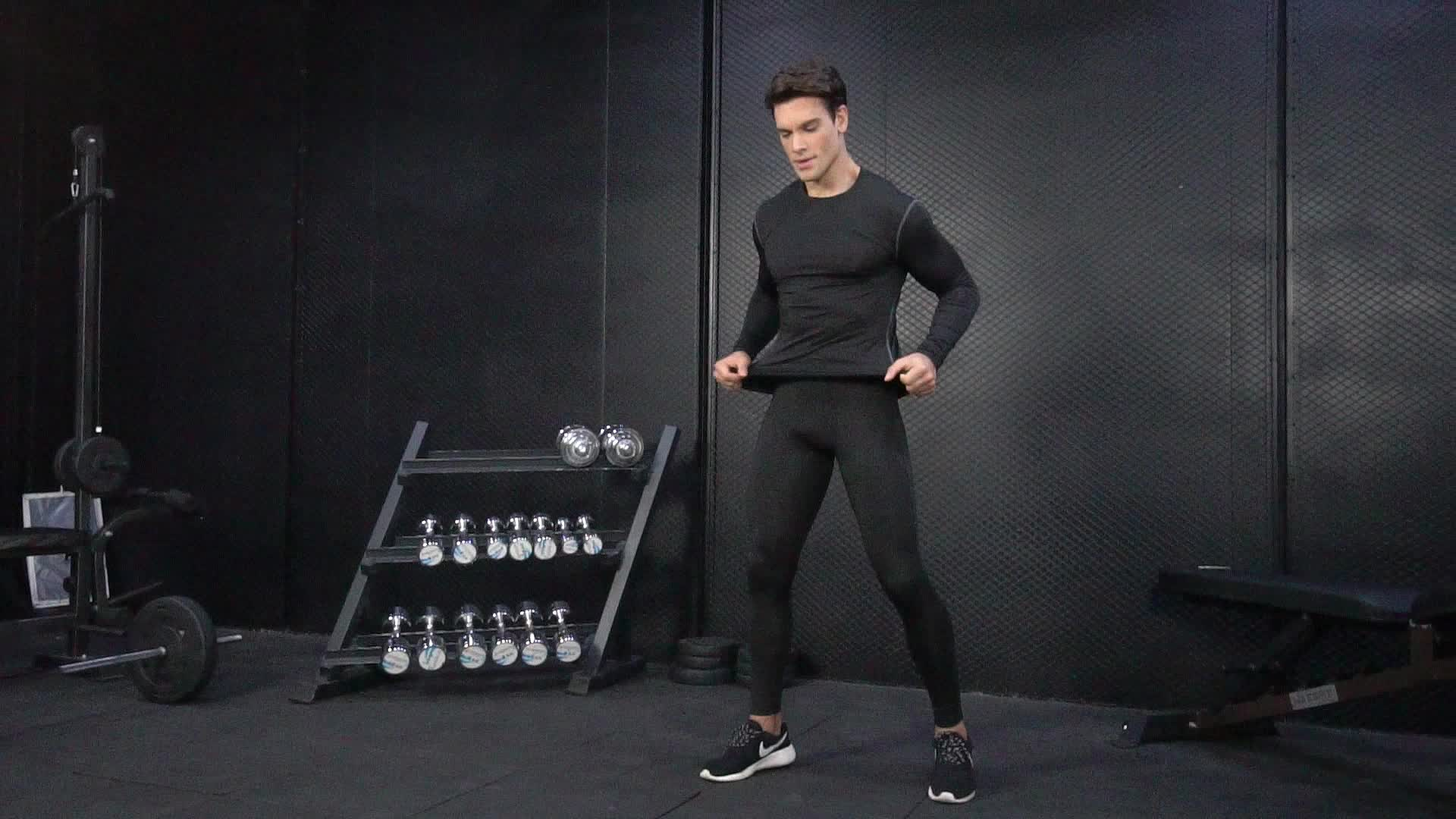 Mens Fashion Gym Clothing 2018 Bodybuilding And Fitness Long Sleeve