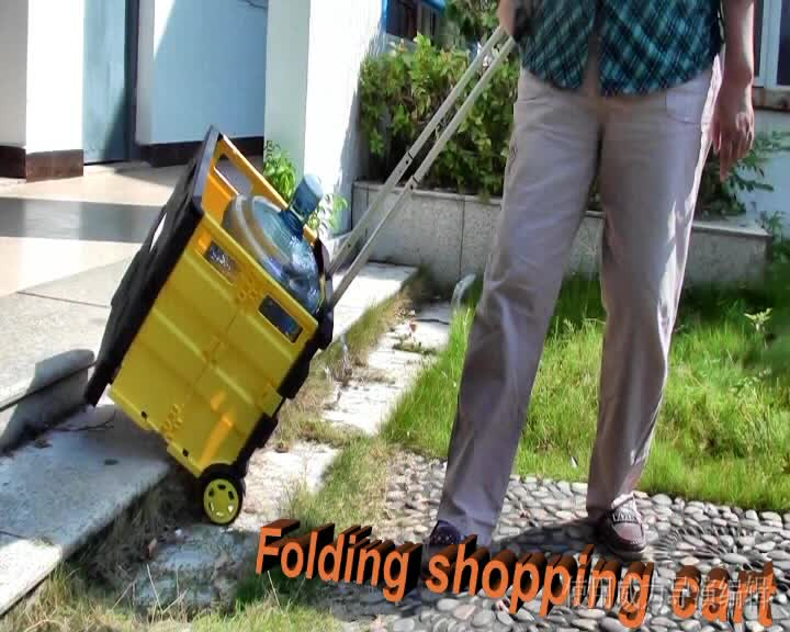 New Product Fashion Outdoor Furniture Folding Garden Beach Plastic Trolley Cart
