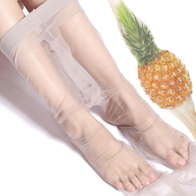 丝袜女薄款光腿肉色神器超薄网红菠萝袜防勾丝黑夏天季隐形连裤袜