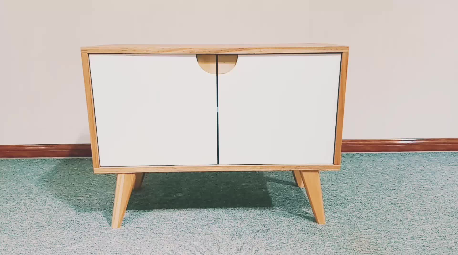 Modern Design Wooden Kitchen  Sideboard Corner Storage Cabinet