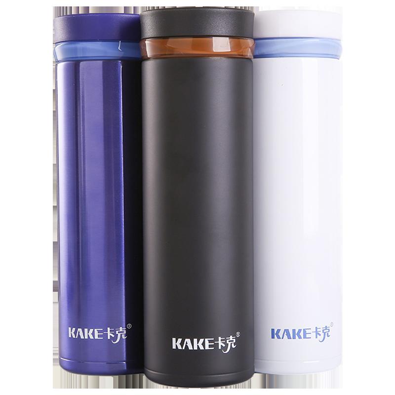 【卡克】双盖304不锈钢商务保温杯