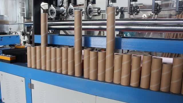 Automatic Spiral Small Cardboard Toilet Tissue Paper Can Core Pipe Tube Forming Making Winding Rolling Winder Machine Price