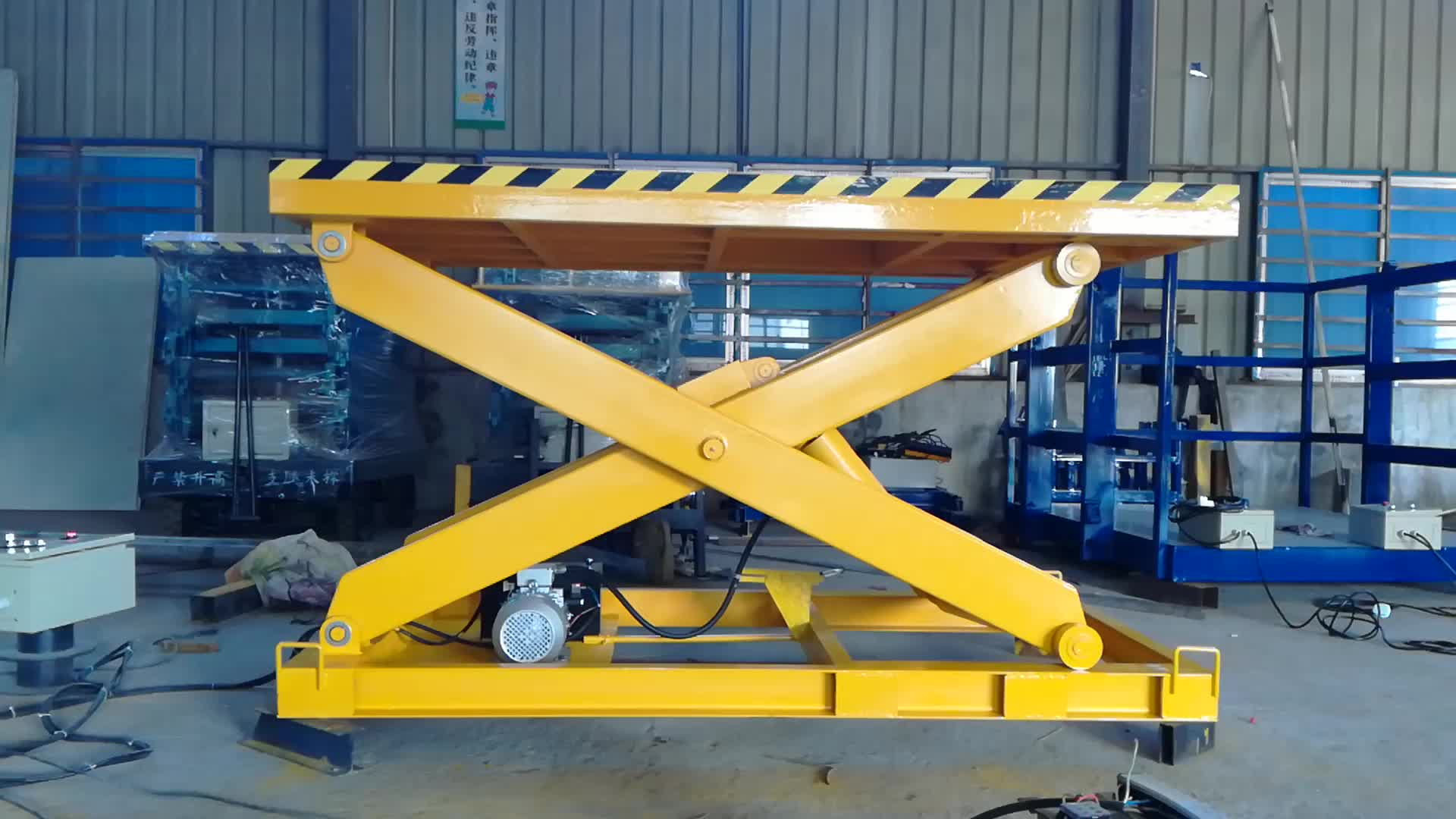 Small Hydraulic Lift Platforms : M ton lifting height cheap lightweight small