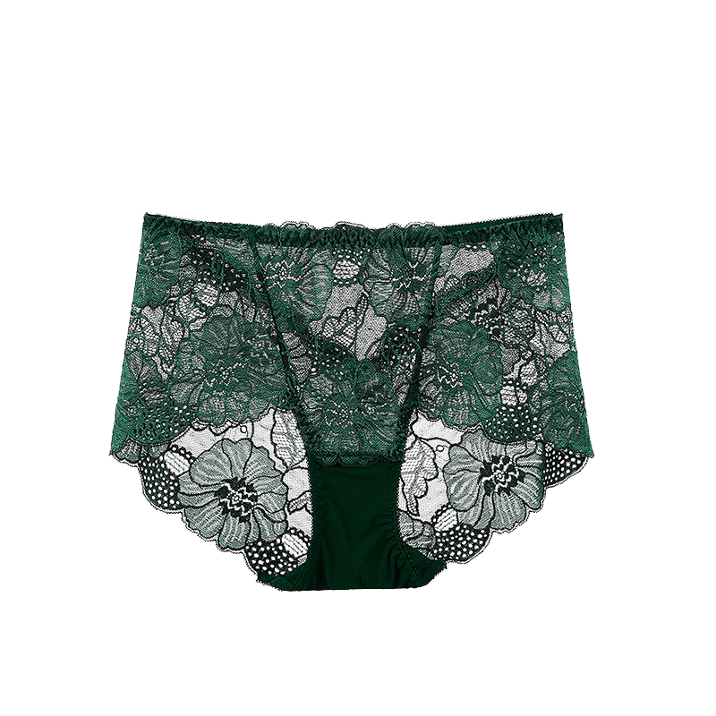 4条提臀无痕性感三角蕾丝内裤
