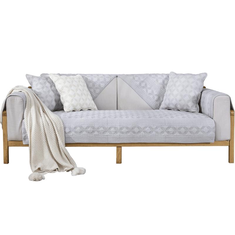 纯棉沙发垫布艺四季通用夏季北欧简约现代欧式沙发套罩坐垫防滑垫