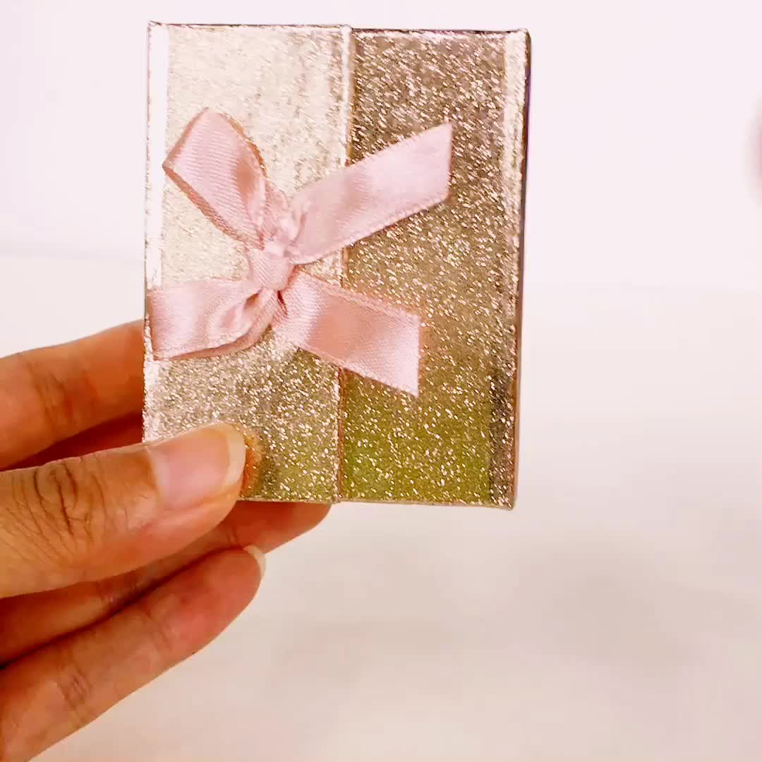 Hair extension Packing Silver Card Paper Box With Silver Foil Logo Print On Top