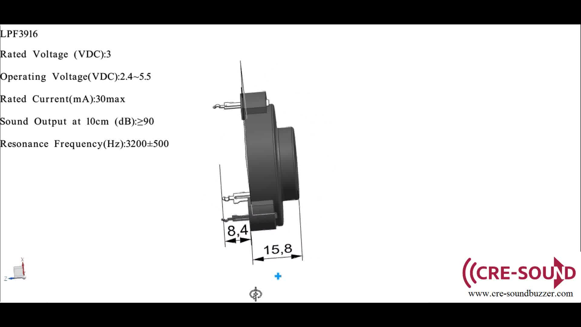 3 pin buzzer 3v 90db self driven buzzer for smoke alarm lpf3916  view self driven buzzer