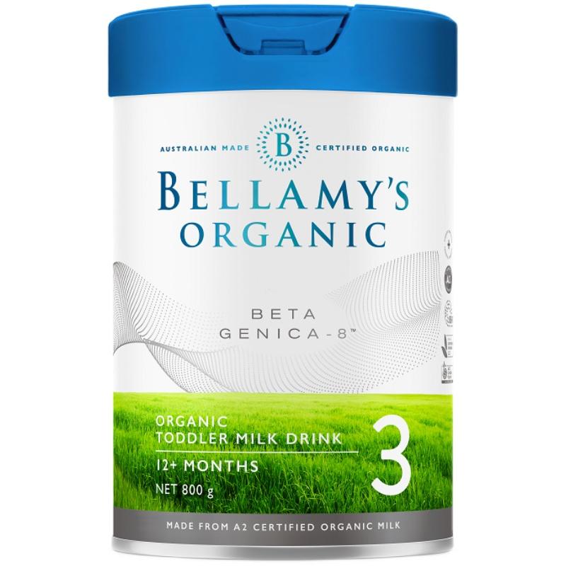 贝拉米高端系列白金版有机A2婴儿配方奶粉3段(12个月以上)800g/罐