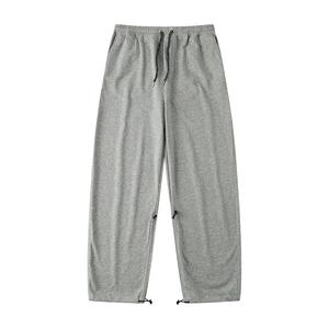 灰色大码直筒工装全棉男宽松卫裤