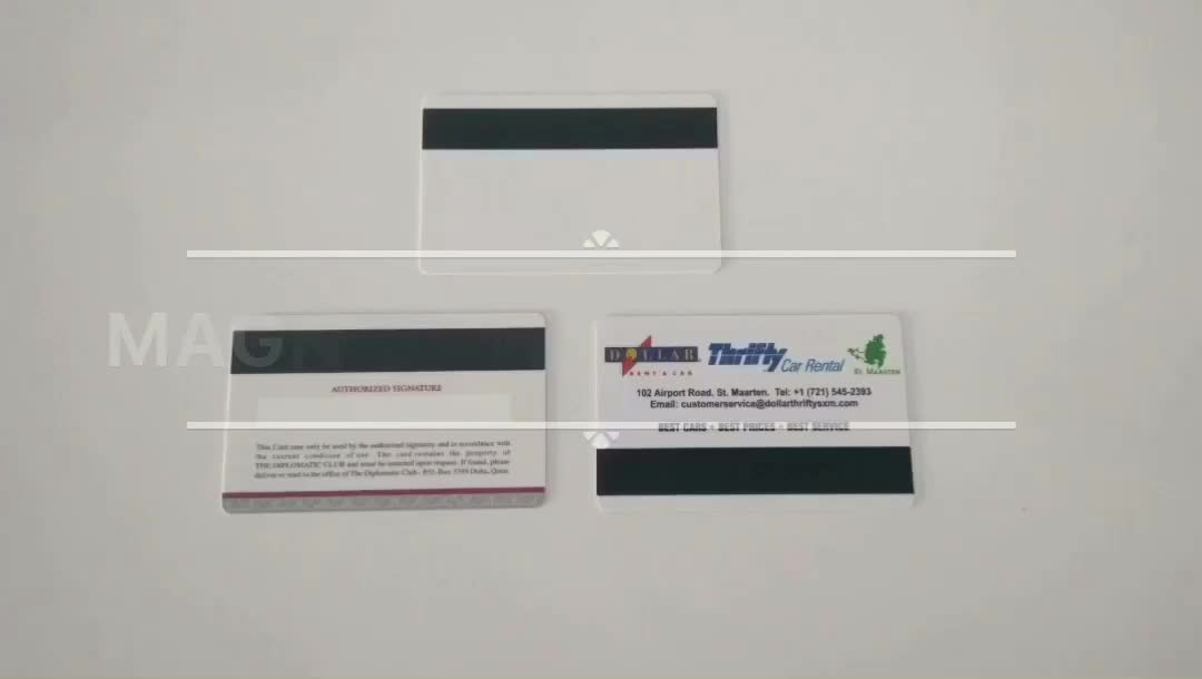 CR80 Size Blank Magnetic Strip Card Inkjet Printing Business ID card