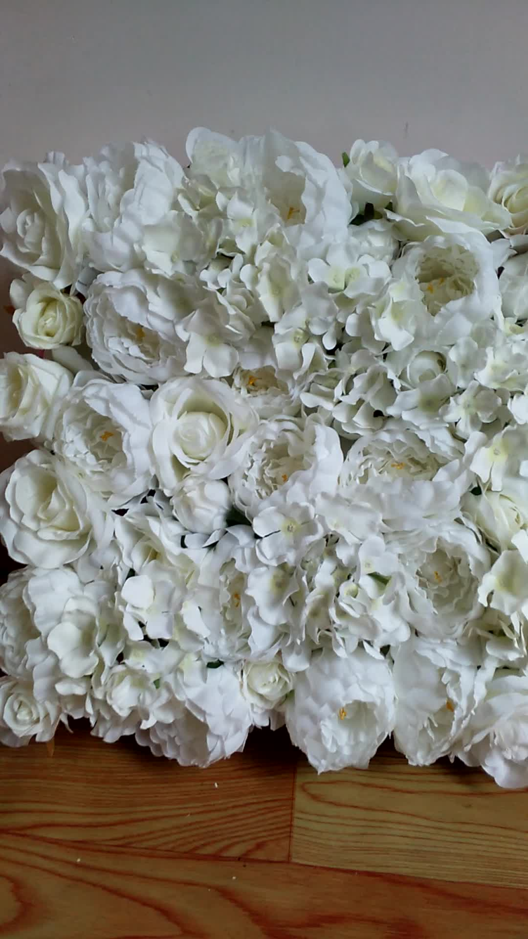 2017 New Beautiful White Silk Dense Flower Wall Love Beauty Vintage