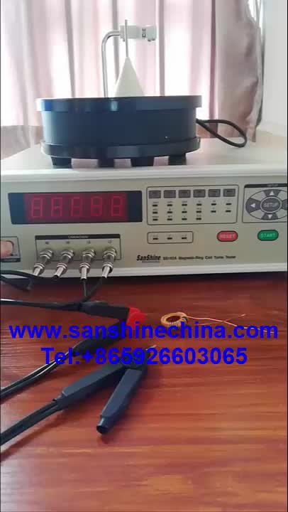 Precision toroidal voltage sensor coil turns meter