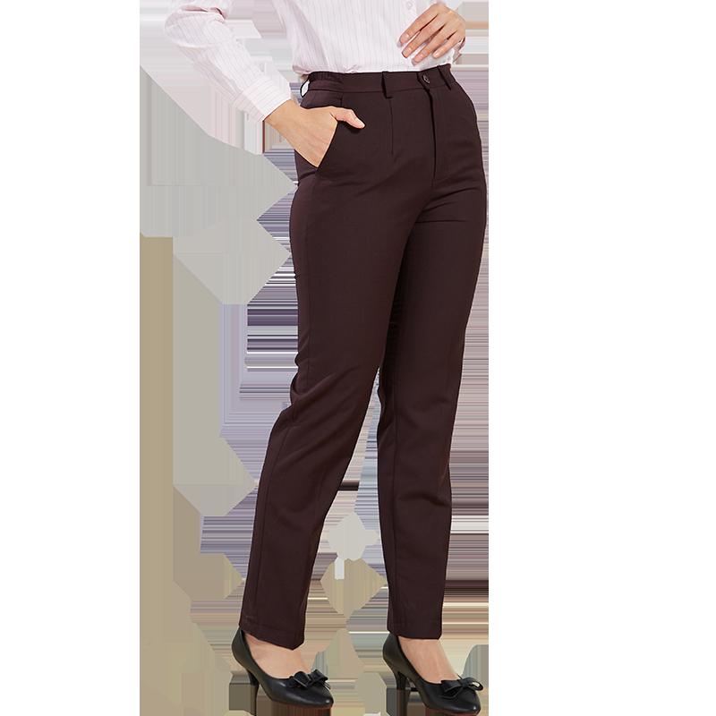 职业西装裤女春夏上班正装直筒黑色宽松显瘦休闲长裤大码工作裤子