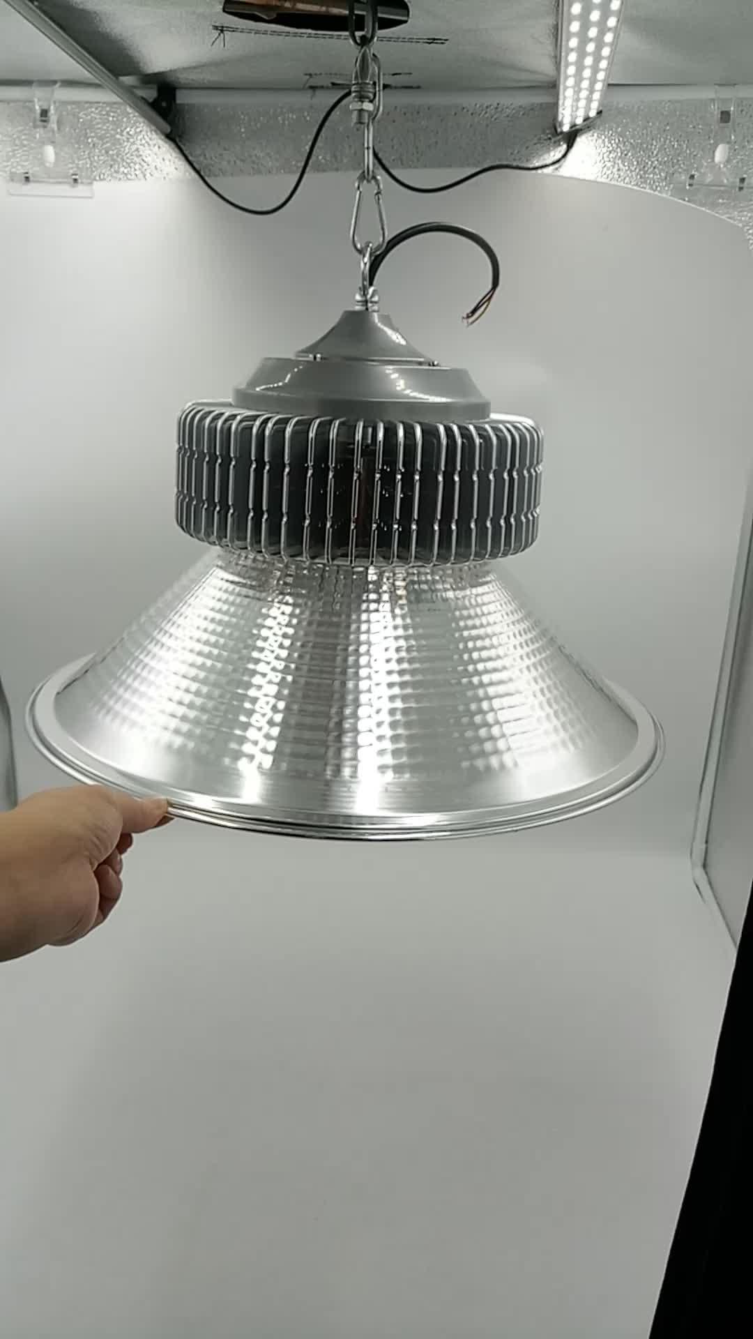 Sıcak Satış Ürünleri Yüksek Lümen SMD 150 w Kolye Işıkları Depo Aydınlatma Armatürleri ufo led yüksek raf lambası Konut