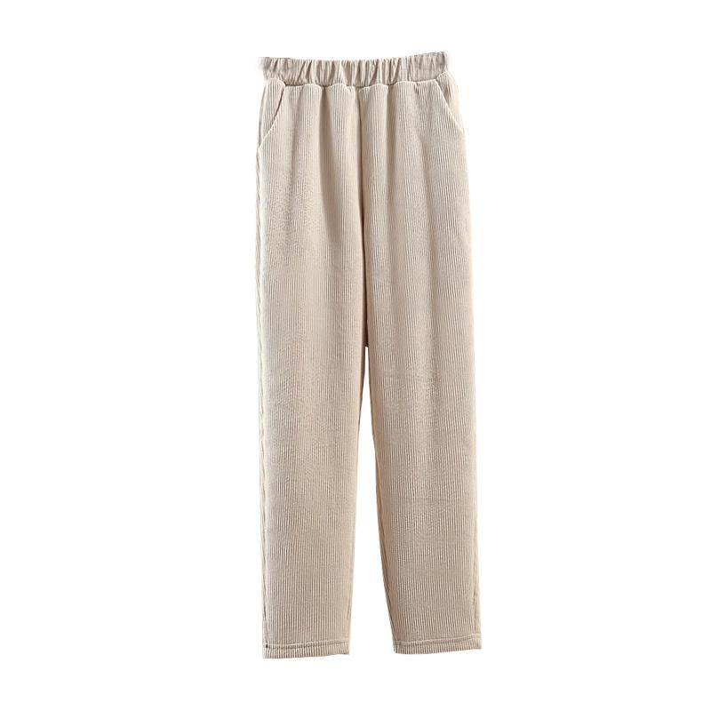 子女秋冬加绒哈伦网红奶奶灯芯绒裤好用吗