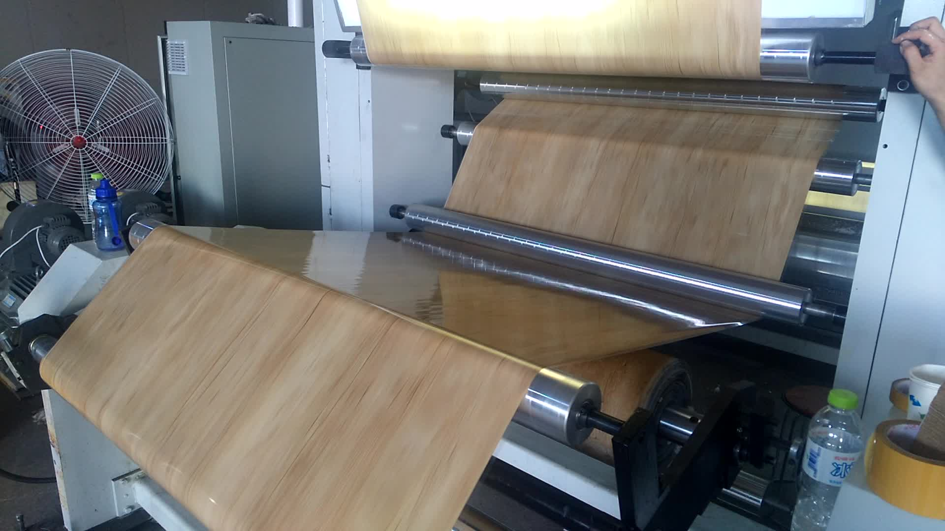 PET Wood Grain Hot Printing Stamping Foil For Plastic Wood Foam Funiture Board