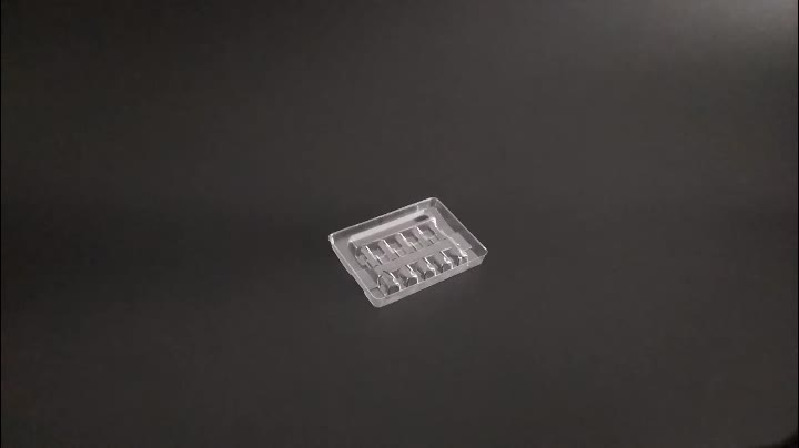 Plastic clear transparent ampoules and vials packaging