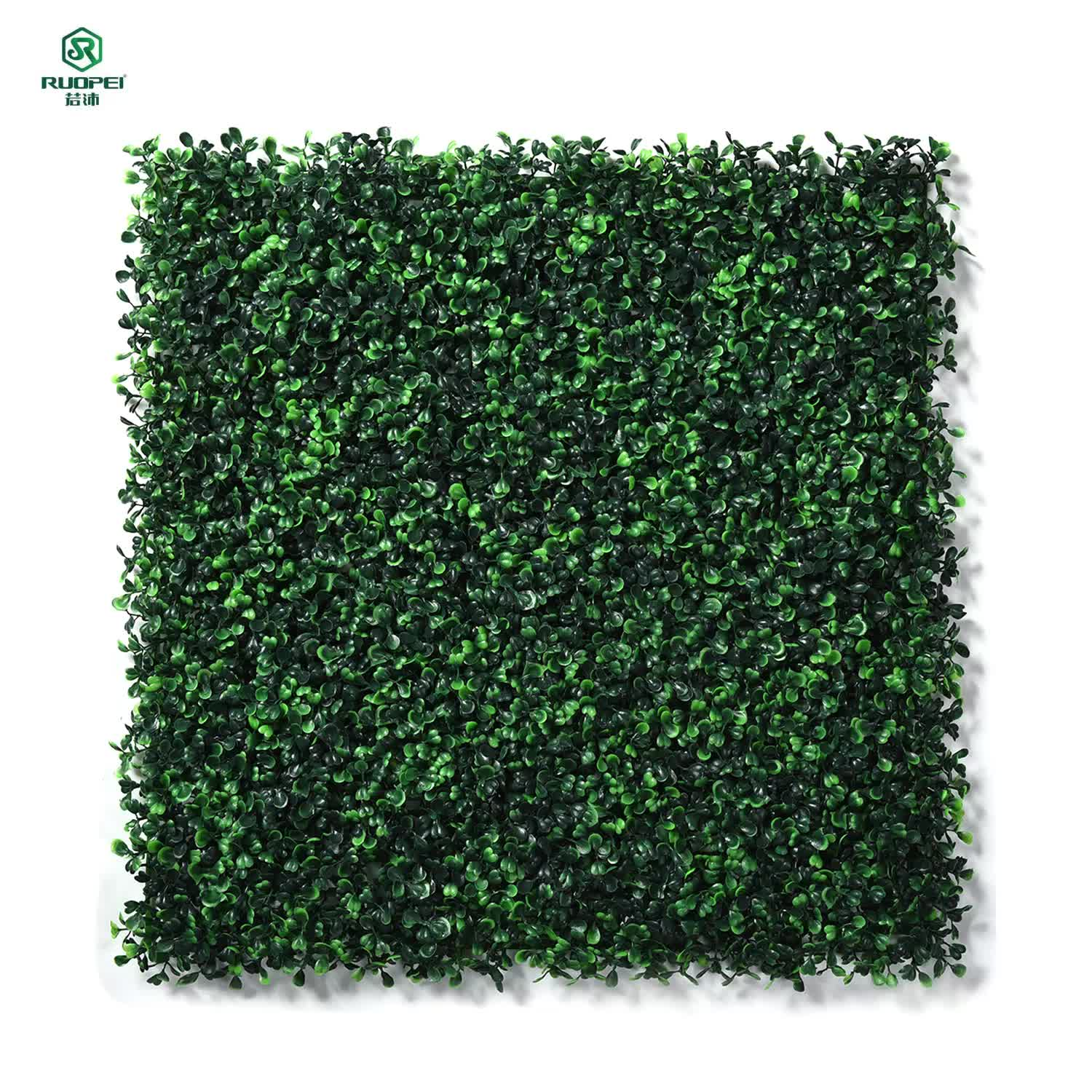 "NatraHedge Artificial Boxwood Hedge Mat 20""x 20"" Panels for wall decorative"