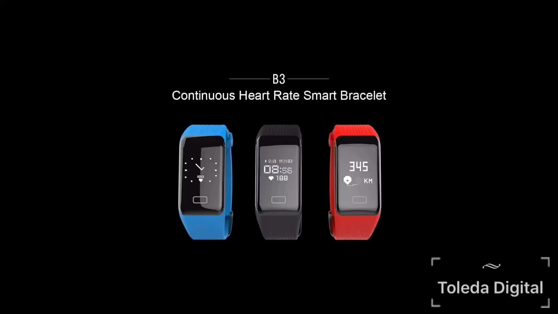 OEM/ODM smart band with touchsreen fitness tracker Sedentary reminder continuous heart rate monitor
