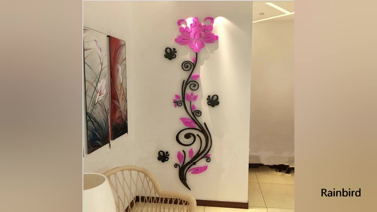 2017 Modern Home Decor High Quality Crystal Wall Stickers