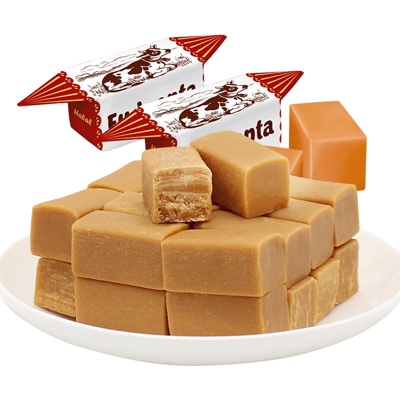 进口500g牛奶味特甜乳脂奶香软糖果