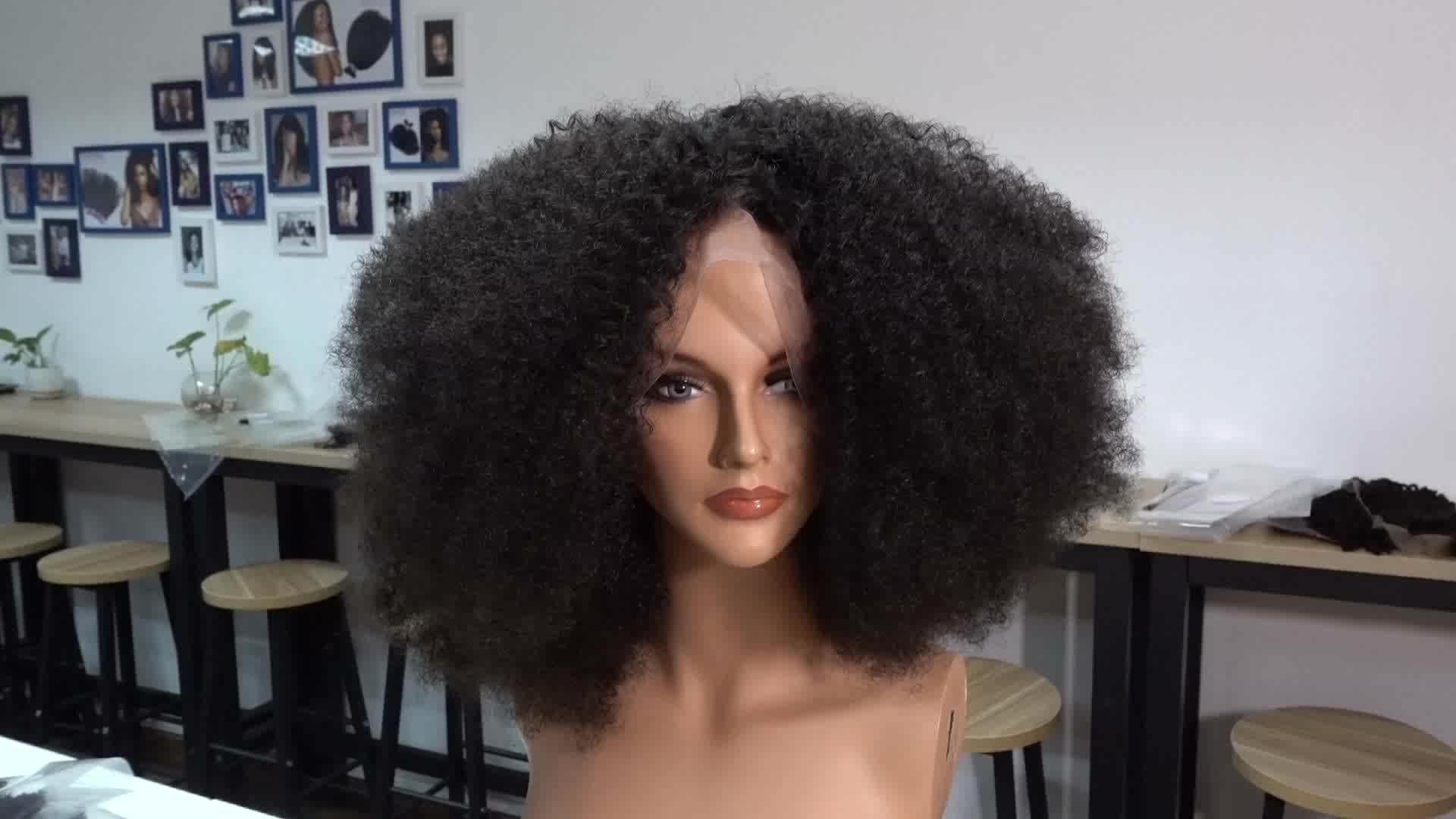 Afro kinky menselijk haar pruik, korte pruiken voor zwarte vrouwen