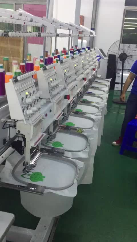 Computerized 8 head embroidery machine tshirt printing for Computerized t shirt printing machine
