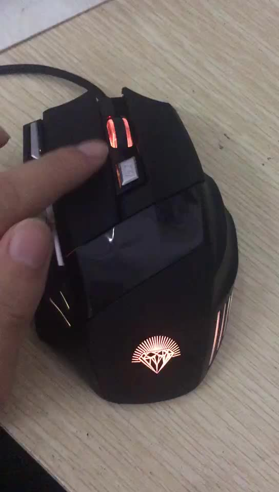 High quality wholesale 7 button led light wired top mmo gaming mouse