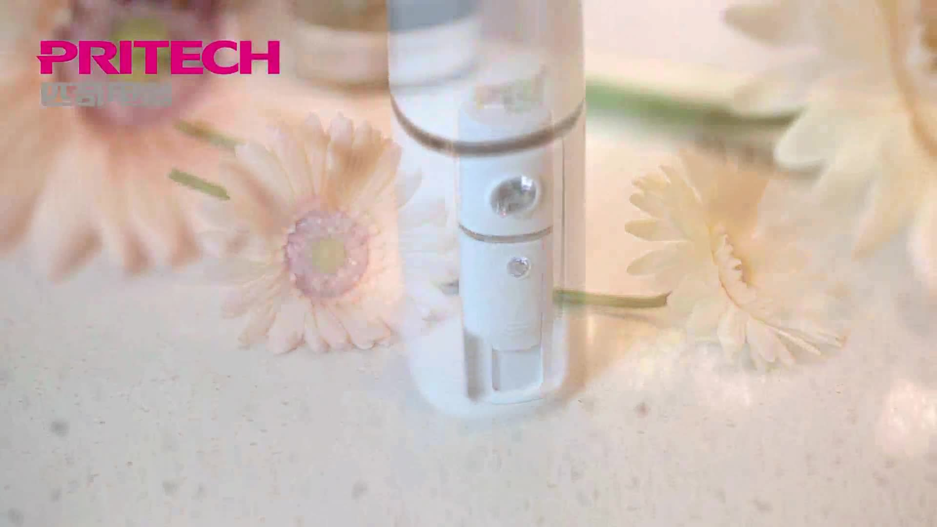 PRITECH Mini Handheld Face Steamer USB Rechargeable Facial Nano Mist Sprayer