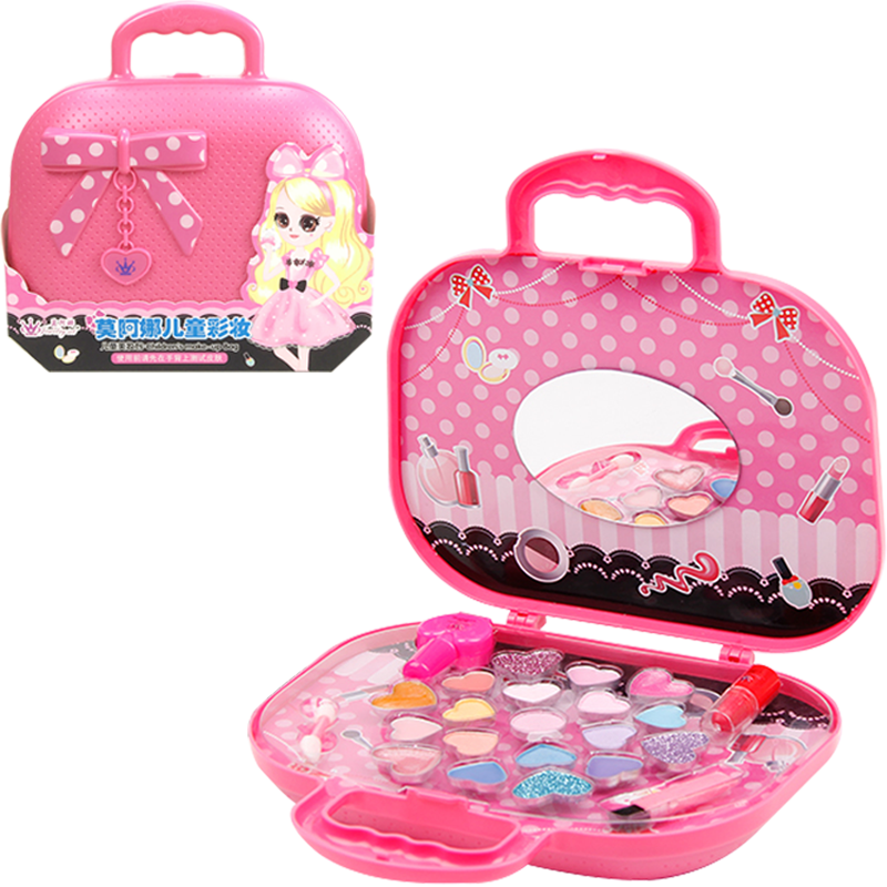 儿童化妆品套装无毒女孩化妆盒玩具小公主彩妆盒4-6岁可水洗演出8