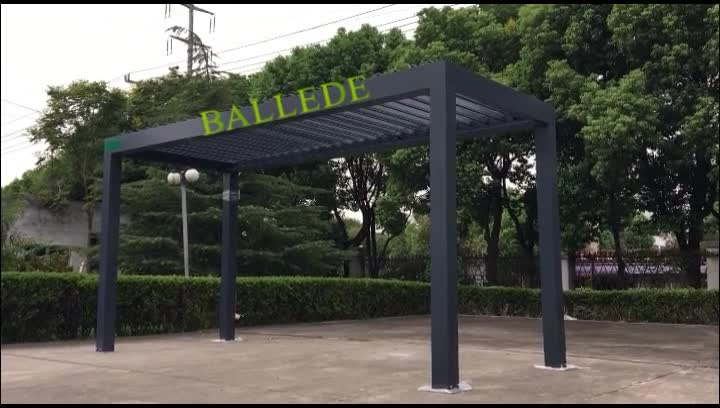 Outdoor Sun Shade Louver Roof And Waterproof Pergola Awning System