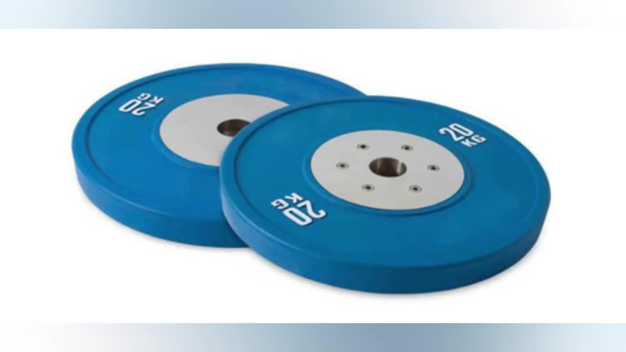 Farbige Barbell-Gummipuffer-Gewichts-Platten