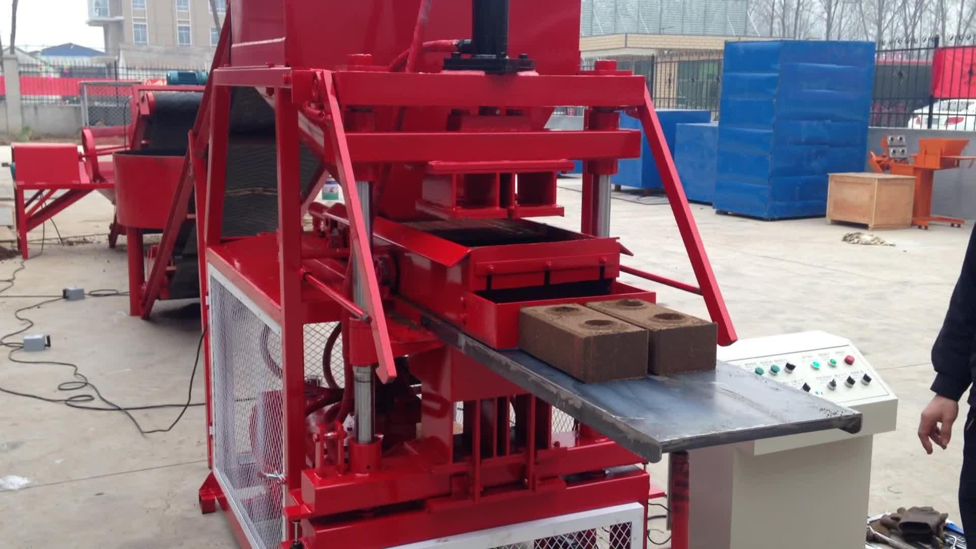 Birbirine tuğla makinesi JL2-10 hidrolik blok kil tuğla yapma makinesi