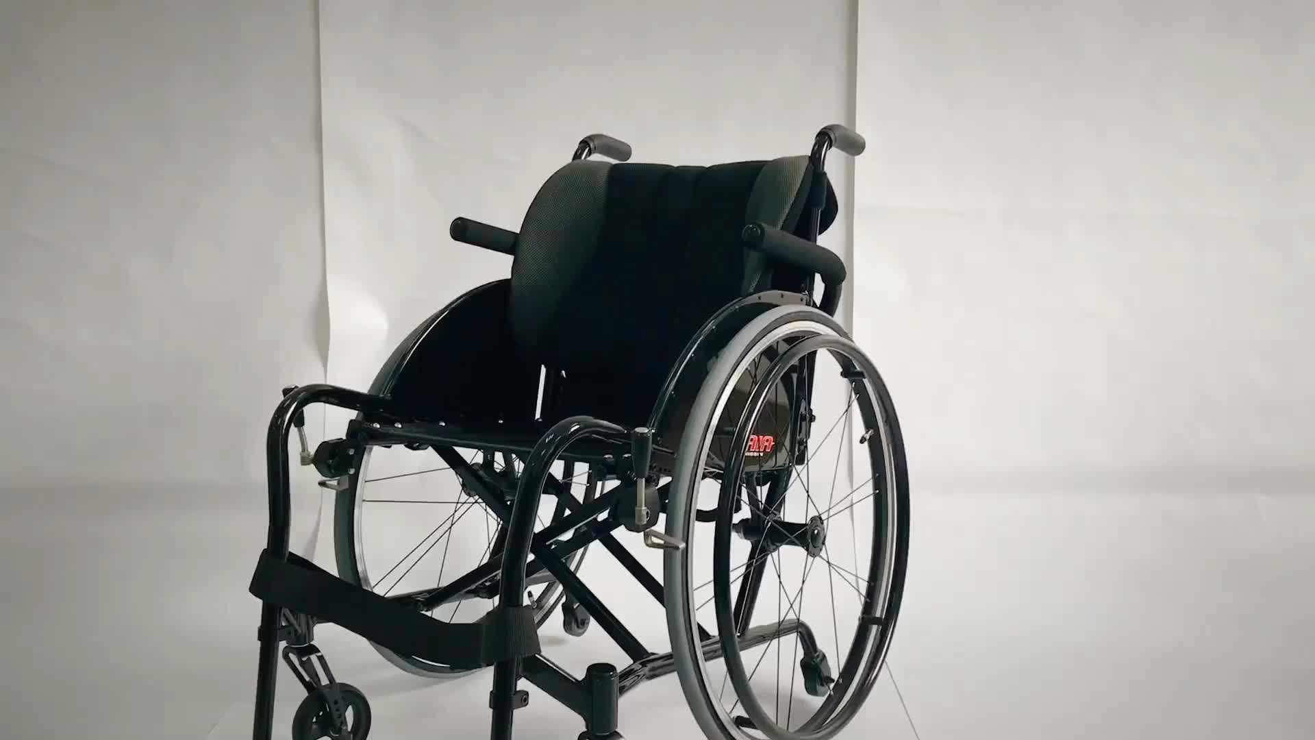 Hot selling model flexible tailor-made active manual folding sports wheelchair