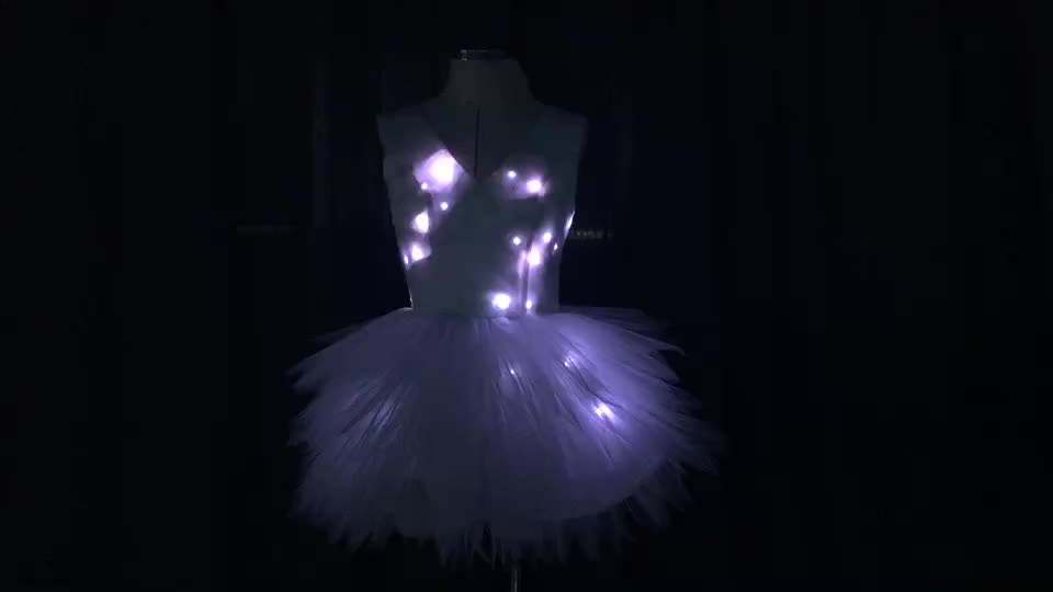 Hot sale sexy led costume for women,LED light clothing,remote control latin dance dress